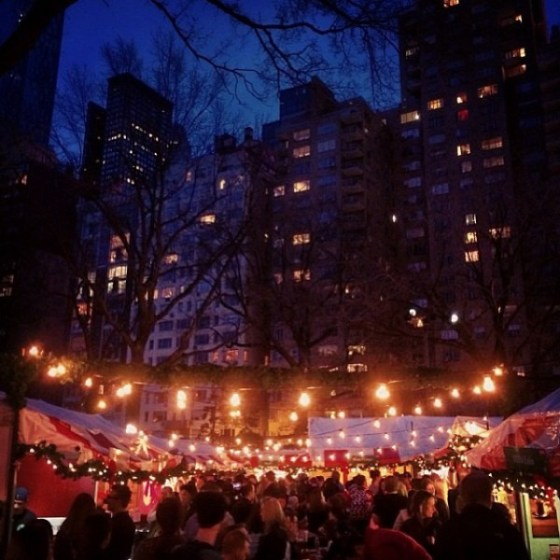 Columbus Circle Holiday Market Photo credit: UrbanSpace