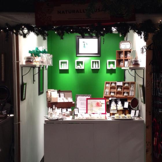 Naturally Susan's Booth at CC Holiday Market 12.2015
